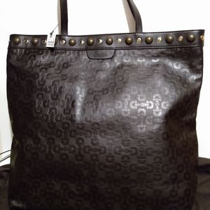Gucci Babouska Horsebit Embossed Leather Tote